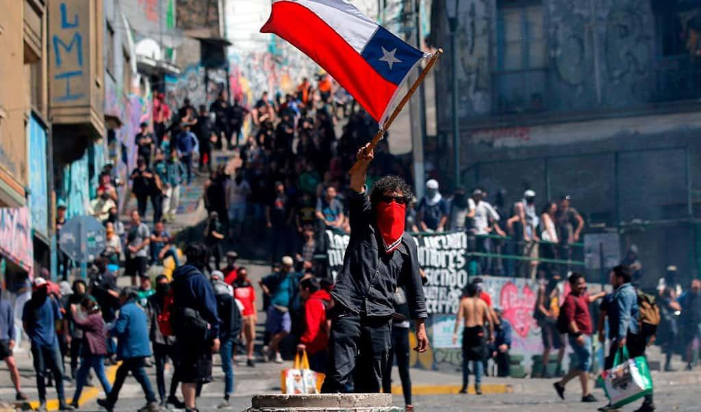 Fotografía día protesta nacional en Chile