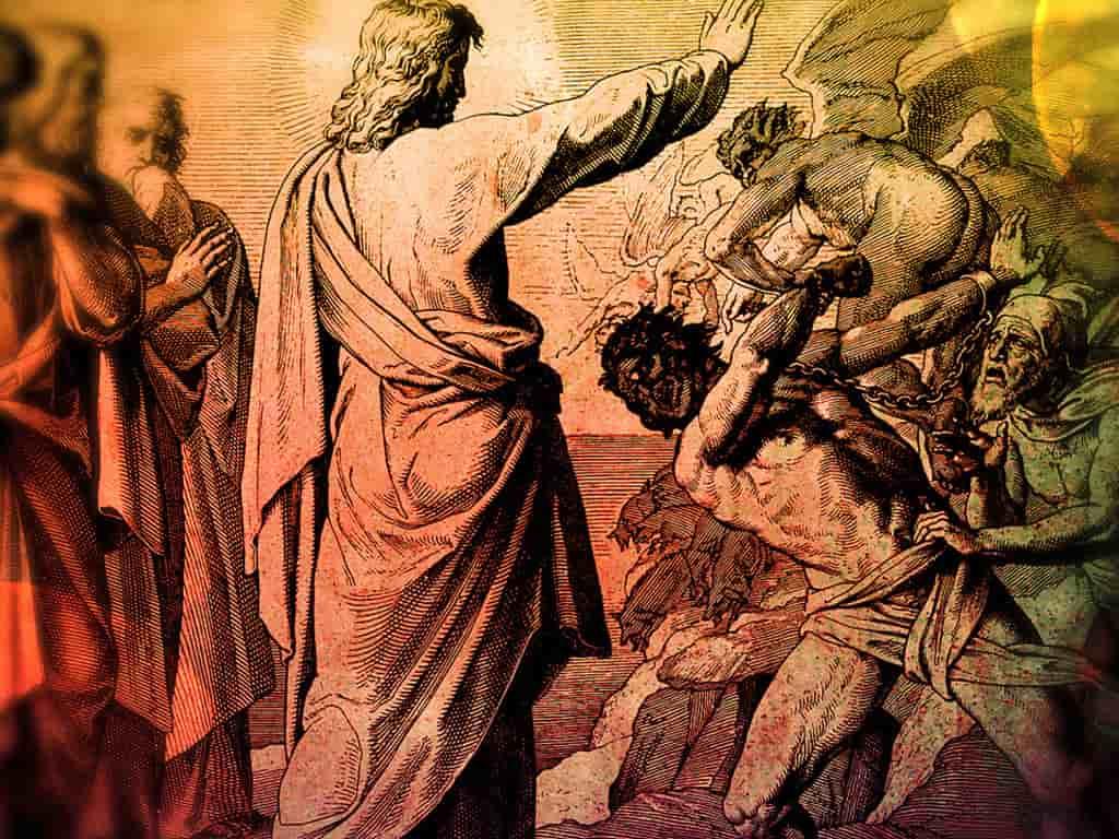 Imagen de Jesús expulsando a los demonios