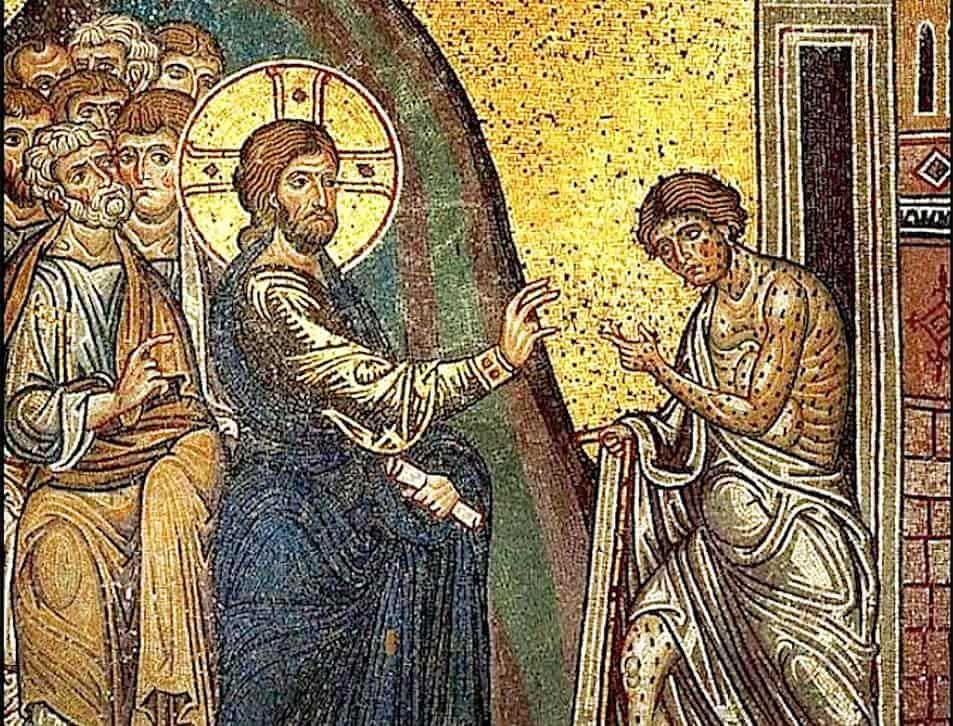 Jesús curando de la enfermadad