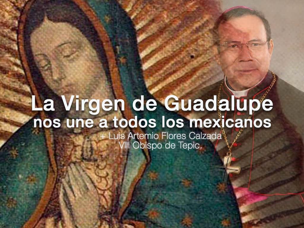 Imagen de portada sobre el mensaje del señor obispo sobre la Virgen de Guadalupe
