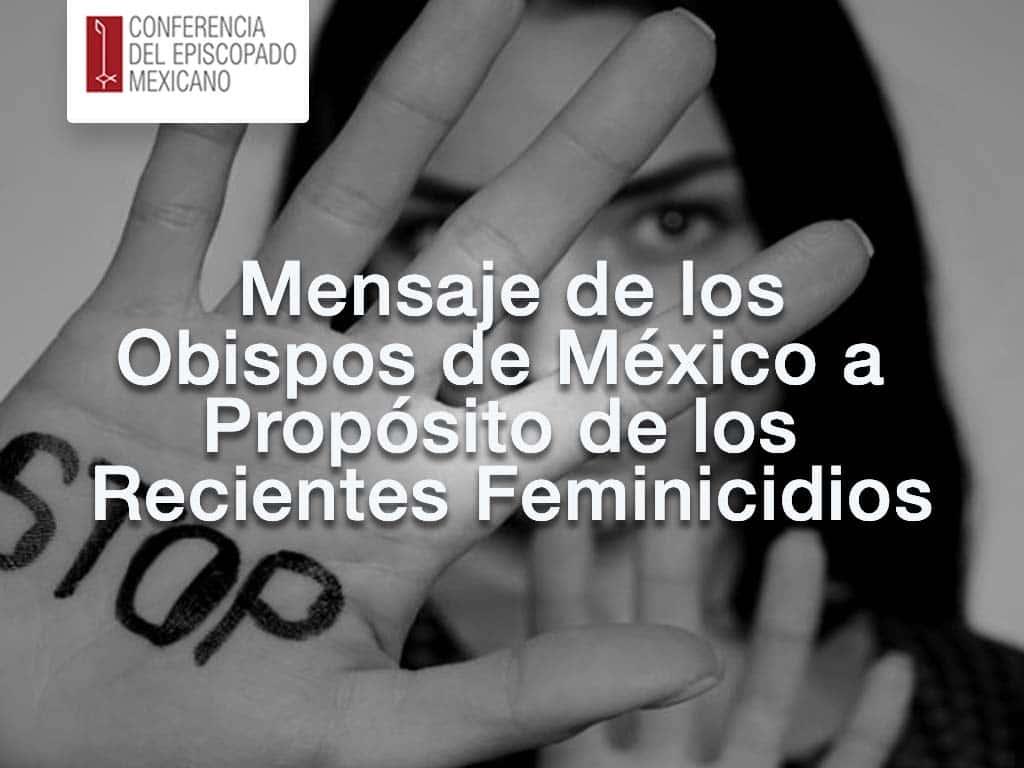 portada para leer el mensaje de los obispos de Mexico con motivo de los feminicidios